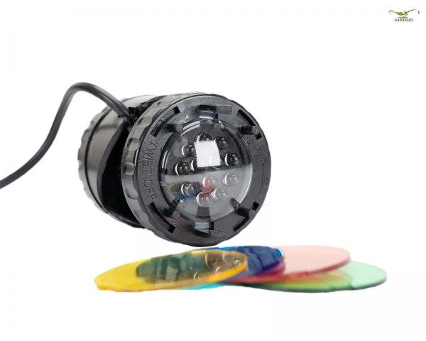 Reflektor LED Lights mit Farbscheiben - 1x